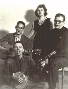 The Weavers with Pete Seeger on banjo.